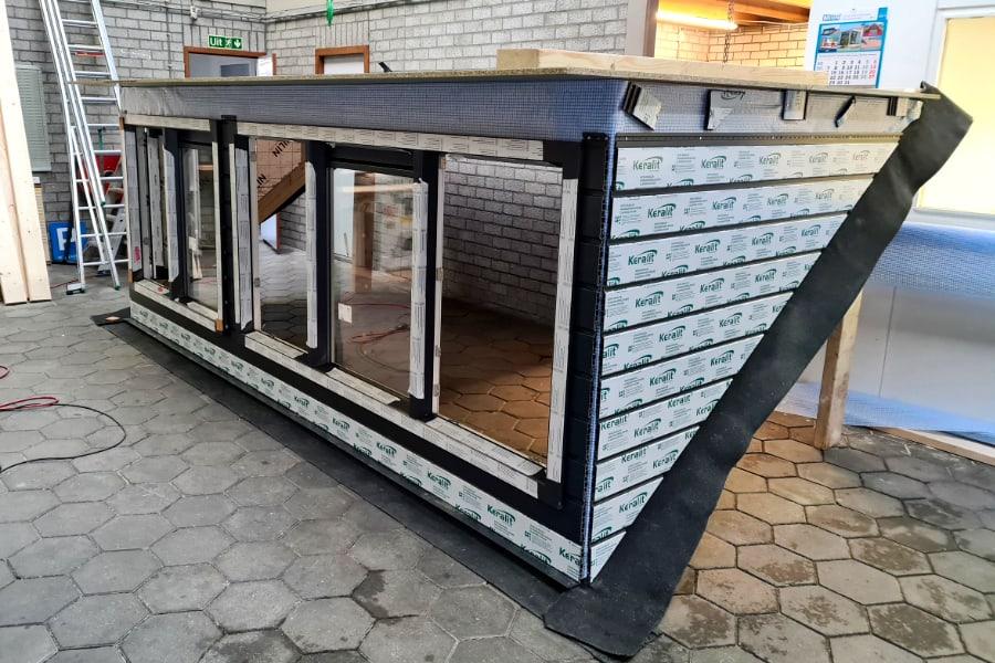 Dakkapel bouw in eigen werkplaats